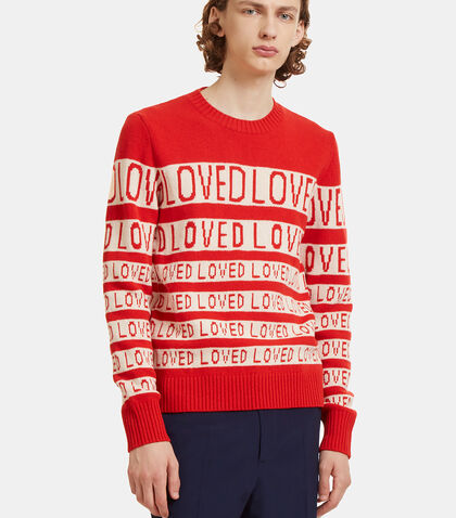 Loved Jacquard Wool Sweater by Gucci
