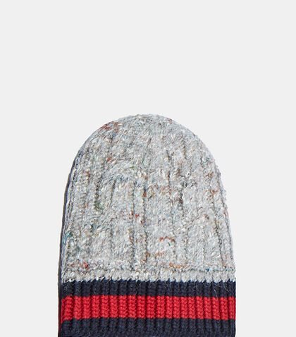 Oversized Cable Knit Beanie by Gucci