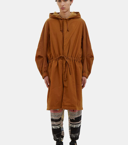 Oversized Waxed Parka Coat by Anntian