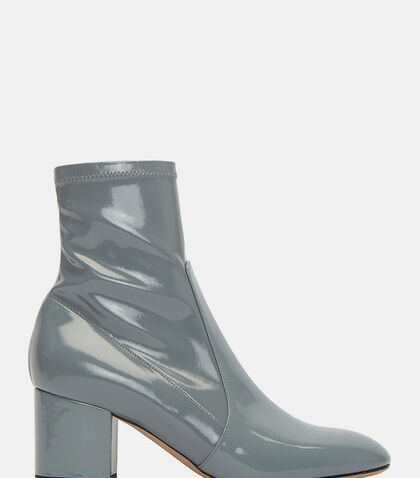 Patent Block Heeled Ankle Boots by Valentino