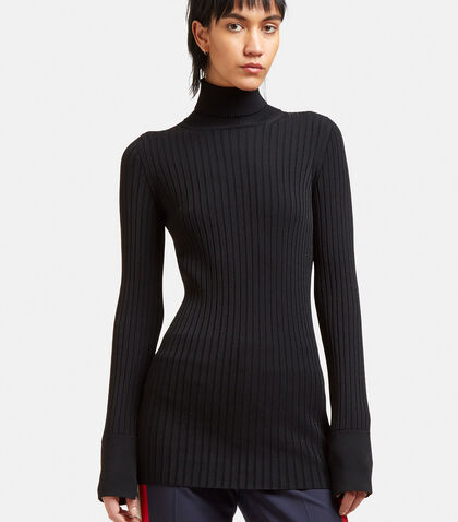 Ribbed Knit Roll Neck Sweater by Stella McCartney