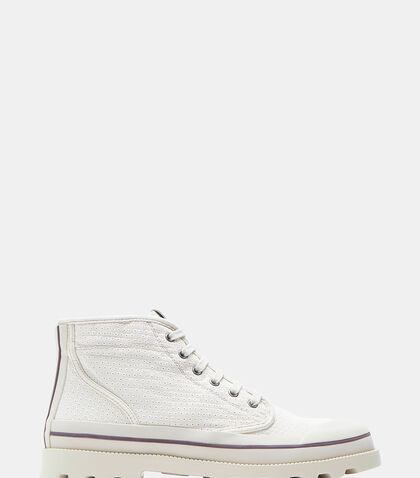 Perforated Canvas Rubber Capped Sneakers by Valentino