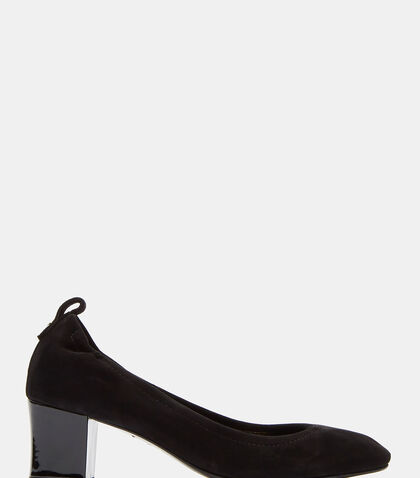 Suede Cube Heeled Pumps by Lanvin