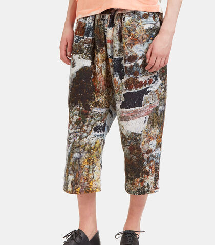 Garden Printed Cropped Pants by Anntian