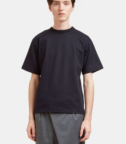 Heavyweight Ribbed Crew Neck T-Shirt by Kolor