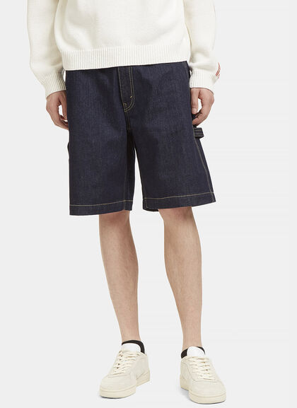 Buy Contrast Stitch Denim Shorts by Stella McCartney men clothes online