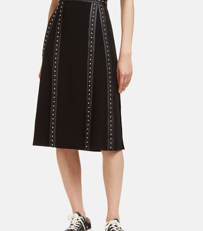 Steele Studded Satin Trimmed Skirt by Altuzarra