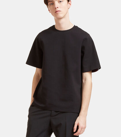 Oversized Contrast Knit Panel T-Shirt by Oamc