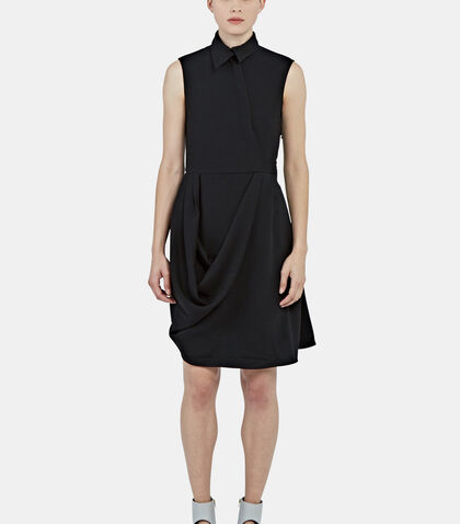 Draped Asymmetric Collared Dress by J.W. Anderson