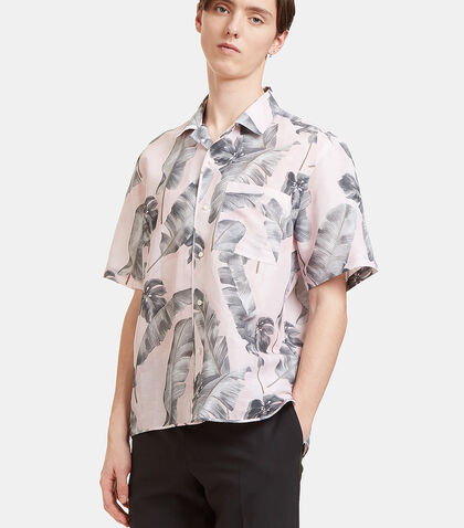 Tropic Print Short Sleeved Shirt by Oamc