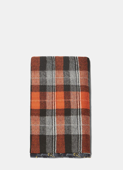 Buy Checked Knit Wool Scarf by Stella Mccartney men clothes online