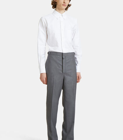 Classic Fit Side Tab Oxford Jumpsuit by Thom Browne