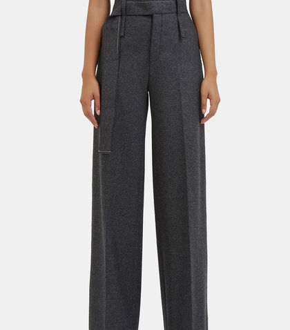 Huranal Wide Leg Wool Pants by Calvin Klein Collection