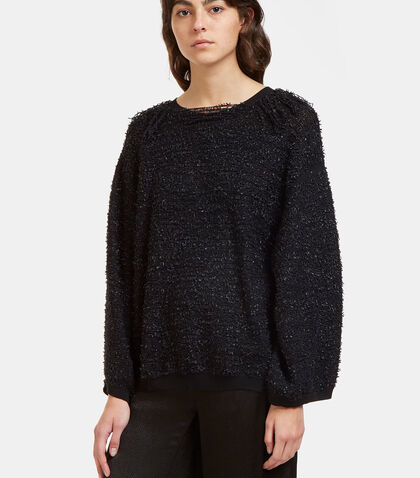 Oversized Shaggy Knot Sweater by Boboutic
