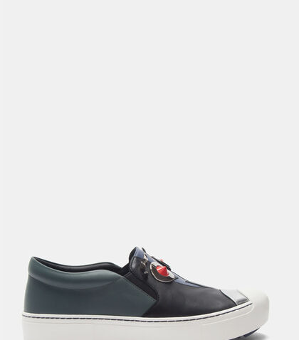 Slip-On Face Sneakers by Fendi