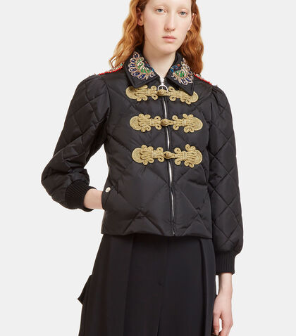 Embroidered Quilted Bomber Jacket by Gucci