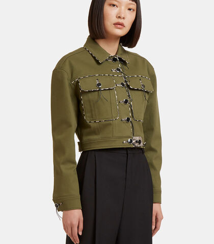 Atoka Snake Cropped Jacket by Altuzarra