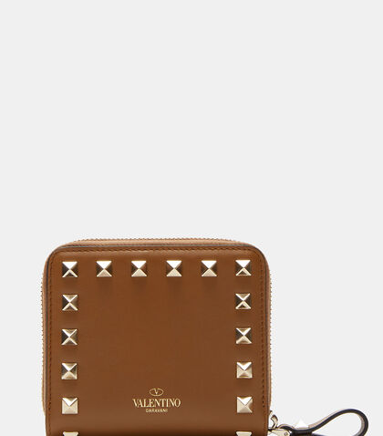 Pyramid Studded Zipped Wallet by Valentino