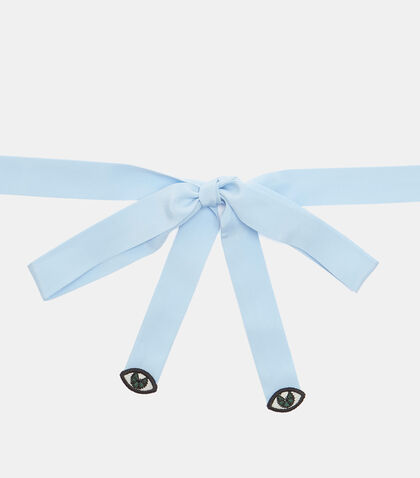 Eye Motif Crêpe de Chine Neck Bow by Gucci