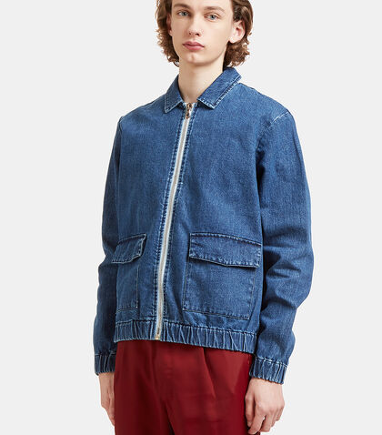 Zip-Up Denim Jacket by Sunnei