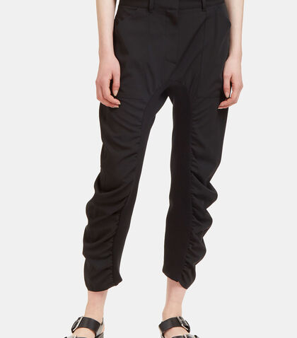 Dropped Crotch Ruched Seam Pants by Stella McCartney