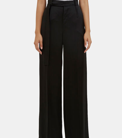 Huranal Wide Leg Satin Pants by Calvin Klein Collection