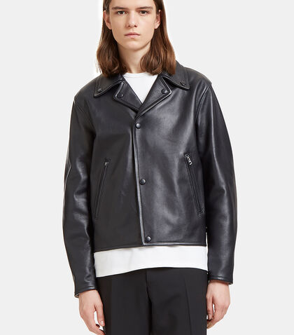 Awe Leather Biker Jacket by Acne Studios