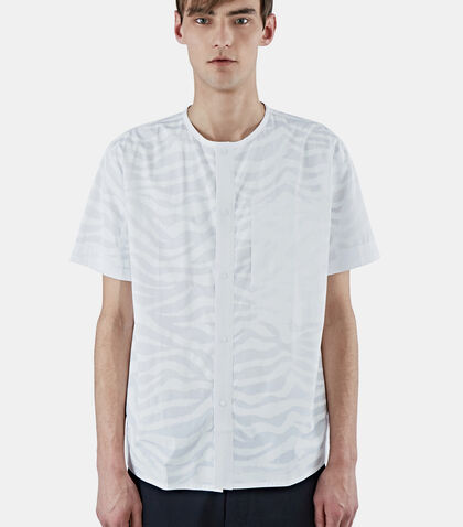 Short Sleeved Snap Front Shirt by Oamc