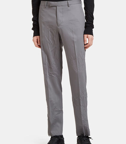 Creased Slim Leg Pants by Valentino