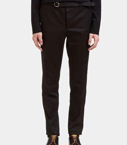 Belted Slim Leg Technical Twill Pants by Valentino