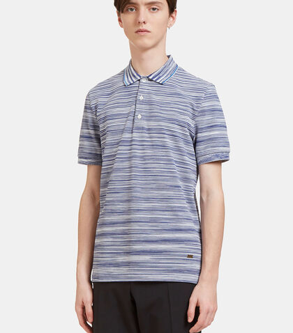 Striped Knit Polo Shirt by Missoni