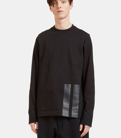 Rubberised Three Stripe Sweater by Y-3