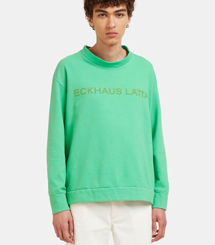 Logo Printed Sweater by Eckhaus Latta