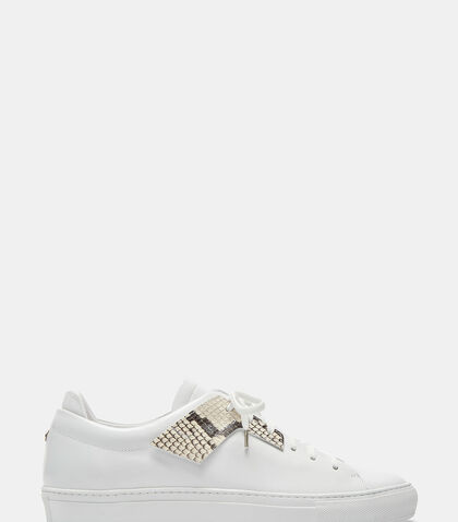 Snakeskin Eyestay Low-Top Sneakers by Oamc