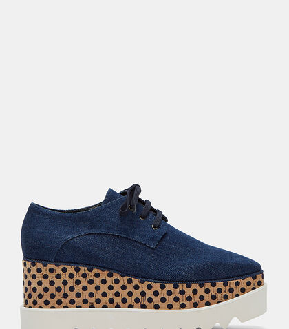 Goret Denim Cork Platform Shoes by Stella McCartney