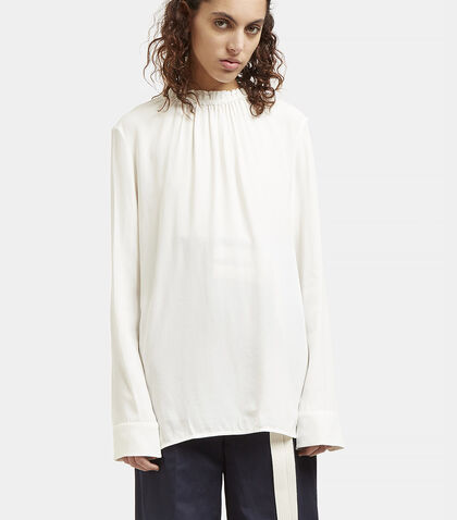 Ruffled Collar Buttoned Blouse by Marni