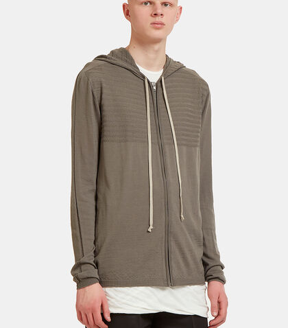 Fine Knit Hooded Sweater by Rick Owens