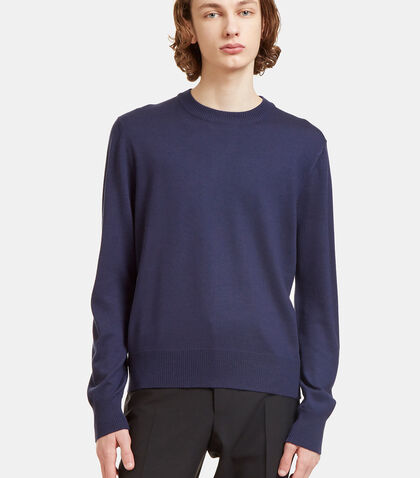 Crew Neck Zipped Knit Sweater by Gucci