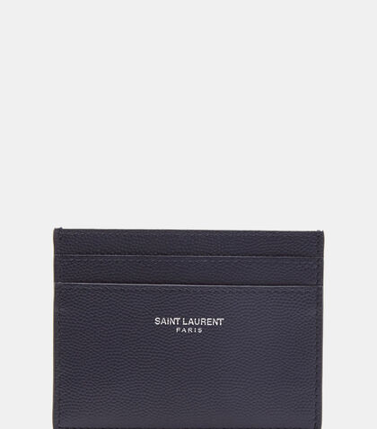 Paris Grain de Poudre Card Case by Saint Laurent
