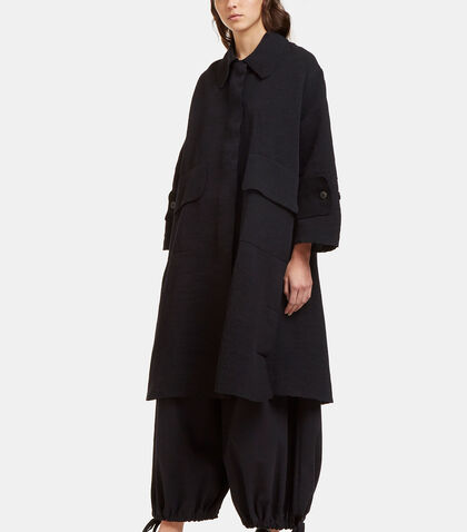 Oversized Tactile Woven Dust Coat by Boboutic