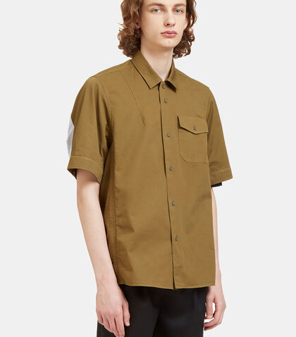 Pacific Rear Striped Panel Shirt by Oamc