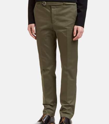 Belted Slim Leg Twill Pants by Valentino