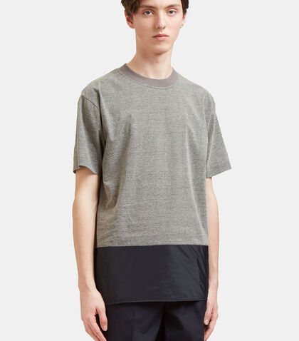 Contrast Panel T-Shirt by Kolor
