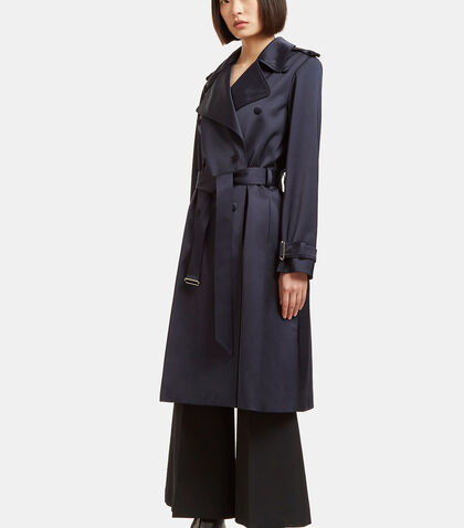 Satin Trench Coat by Lanvin