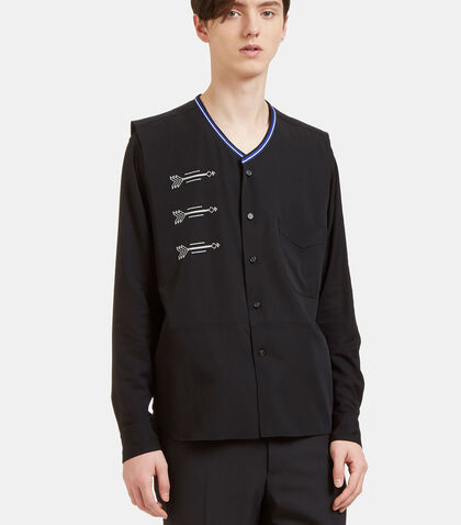 Embroidered Arrow Sleeveless Vest by Lanvin