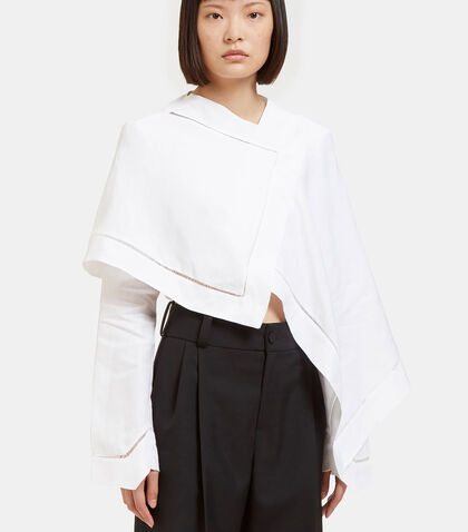 Asymmetric Cropped Tent Shirt by J.W. Anderson