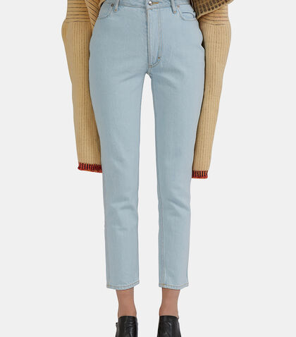 High-Waisted Skinny Jeans by Eckhaus Latta