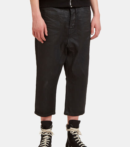 Treated Cropped Leg Jeans by Rick Owens Drkshdw