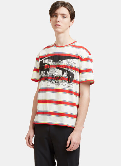 Buy Striped Printed T-Shirt by Stella McCartney men clothes online