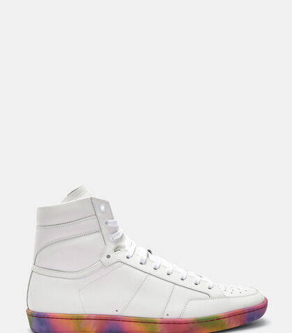 SL/10H Tie Dye Sole High-Top Suede Sneakers by Saint Laurent